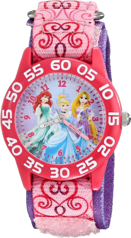 Disney Kids' W001992 Princess Analog Pink Detroit Mall Max 80% OFF Quartz Display