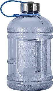 Geo Sports Bottles 1/2 Gallon (64 oz.) BPA Free Plastic Water Bottle w/ 48mm Steel Cap