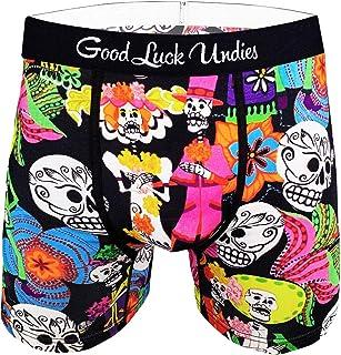 Good Luck Undies Men's Day of The Dead Boxer Brief Underwear