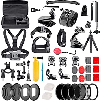 SENSORIE WiFi Action Cam Navitech Action Camera Backpack /& 18-in-1 Accessory Combo Kit with Integrated Chest Strap Compatible with The Samsung HMX-QF30BP//EDCSENDOW 4K HD