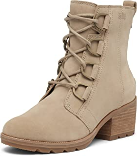 Sorel - Women's Cate Lace Waterproof Ankle Boot with Stacked Heel