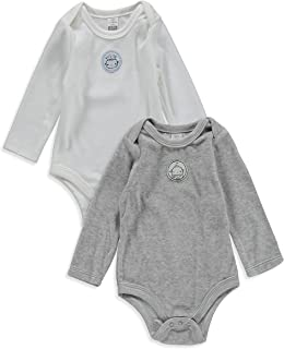 LC WAIKIKI Baby Boys' Velvet 2-Pack Long Sleeve Bodysuit with Snap Fasteners
