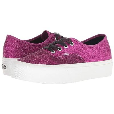 Vans Authentic Platform 2.0 ((Glitter) Wild Aster/True White) Skate Shoes