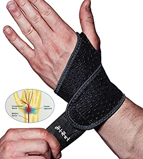 HiRui 2 Pack Wrist Compression Strap and Wrist Brace Sport Wrist Support for Fitness, Weightlifting, Tendonitis, Carpal Tunnel Arthritis, Pain Relief - Wear Anywhere - Unisex, Adjustable