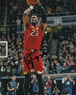 BRUNO FERNANDO signed (MARLYLAND TERRAPINS) Basketball DRAFT 8X10 photo W/COA #3 - Autographed College Photos