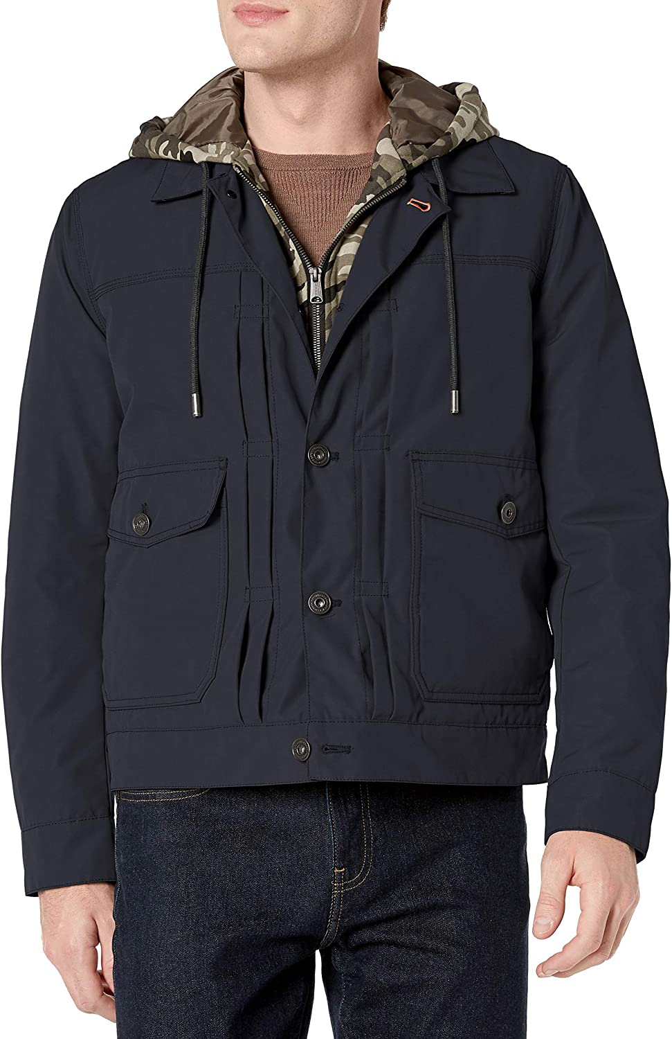 Lucky Brand Men's 2021 new Stark Button High quality new Jacket Fleece Front Exposed with