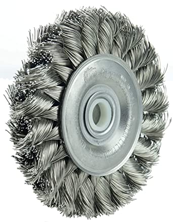 "Eagle 3/"" Standard Twist Knot 0.014 Steel Wire Wheel With 1//2/"" 3//8/"" Arbor Hole"