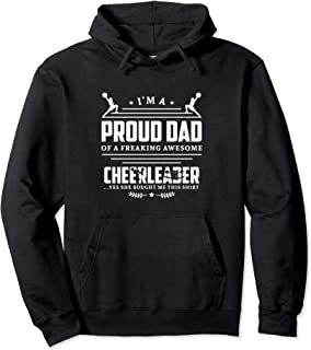Funny Proud Cheerleader Dad Cheerleading Gift for Men Father Pullover Hoodie