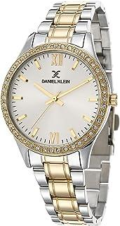 Daniel Klein Premium Alloy Case Stainless Steel Band Ladies Wrist Watch - Dk.1.12429-6, multicolor