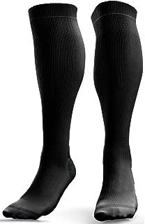 Compression Socks for Women & Men - Air Travel - Anti DVT Flight Socks - Running - Skiing - Shin Support (20-30 mmHg)