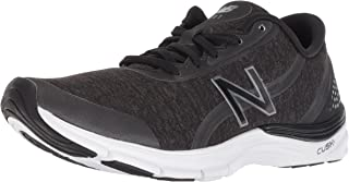 New Balance Women's 711v3 Cush + Cross Trainer, Black, 10 B US