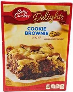Betty Crocker, Cookie Brownie Supreme Bars Mix, 19.5oz Box (Pack of 2)