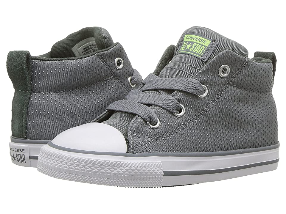 6e922c13aa34 Converse Kids Chuck Taylor(r) All Star(r) Street Mid (Infant Toddler) (Cool  Grey Vintage Green White) Boy s Shoes