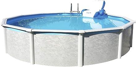 Steinbach Stahlwandpool Set Grande Durchmesser 366 x 135 cm, Pool, Skimmer, Einlaufdüse, Erweiterungsset, Schläuche, 011400