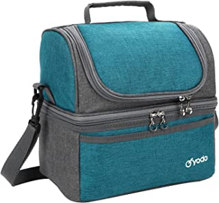 Yodo Deluxe Large Lunch Bag Double Layer Cooler Tote Bag for Adult Women and Men - Idea for Beach, Picnics, Road Trip, Mea...