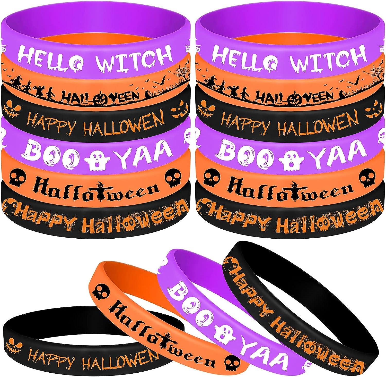 ASTARON 36Pcs Halloween Rubber Silicone Max 69% OFF Bracelets Wristbands Set Fashion