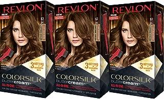 revlon medium golden chestnut brown on black hair