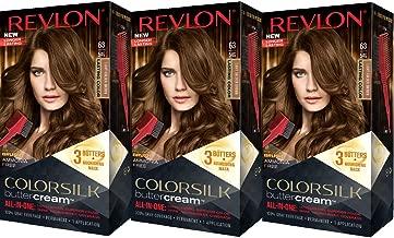 Revlon Colorsilk Buttercream Hair Dye, Light Golden Brown, Pack of 3