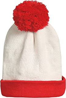 Big Kids Fun Halloween Red White Beanie Hat