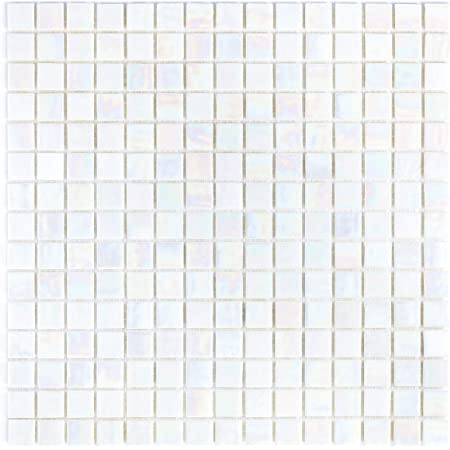 Mto0295 Classic 1x1 Stacked Squares Cobalt Blue Glossy Glass Mosaic Tile