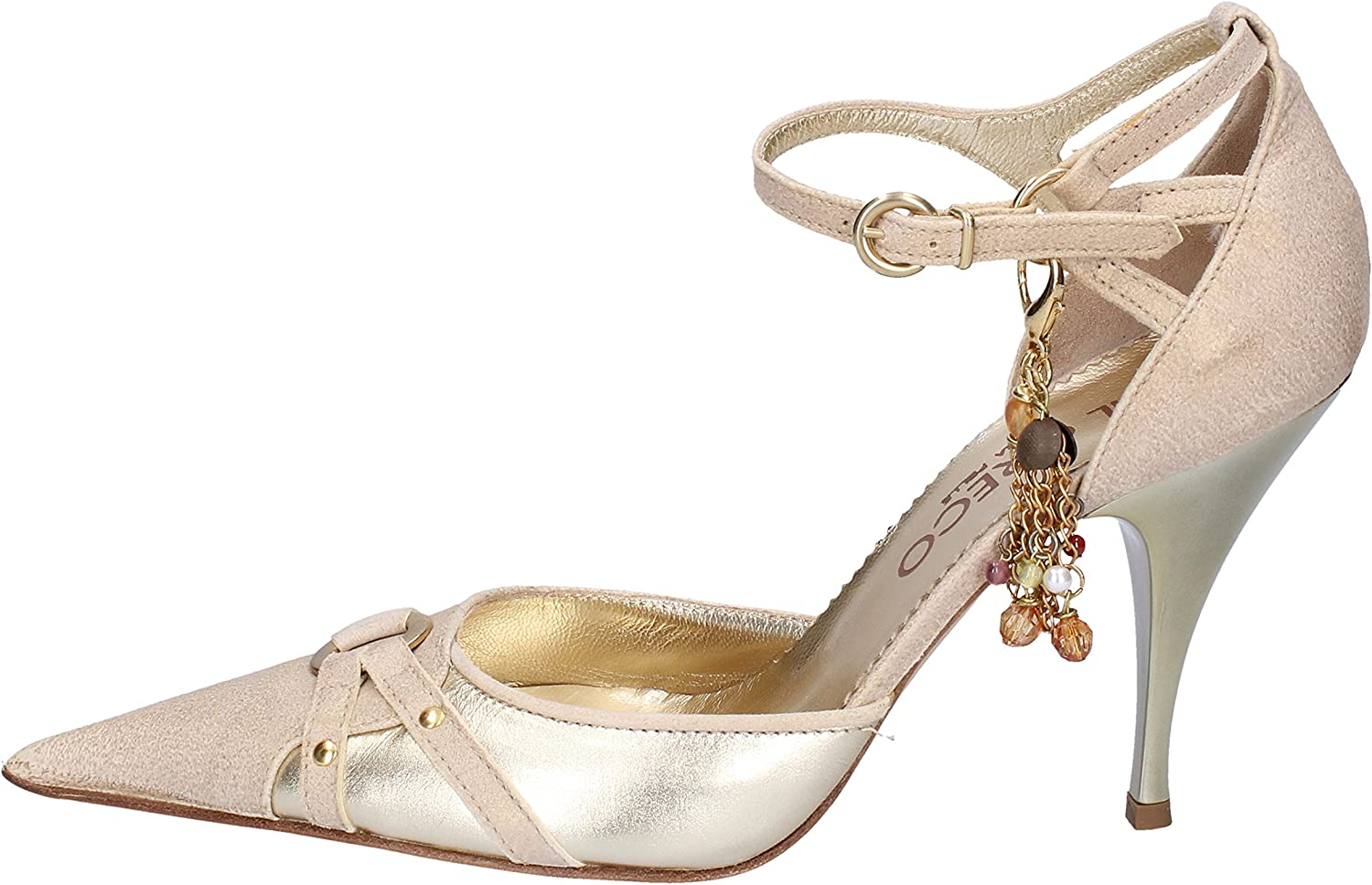 IL GRECO Pumps-shoes Womens Leather Silver 6 US