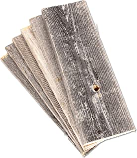 Rustic Farmhouse Reclaimed Barn Wood Bundle | 12 inch | Wood Plank | Wall Panels | Remodeling | Weathered | DIY | Repurposed | Decoration | Shiplap | Craft Wood | Pack of 6