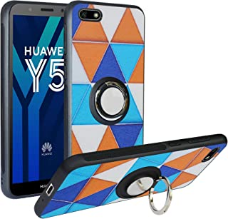 Alapmk Case for Huawei Y5 2018 Case/Honor 7S, Case for Y5 Prime 2018,[Pattern Design] with Kickstand Fit Magnetic Car Mount, Shockproof TPU Protective Case Cover Triangle SSDZ0031-5