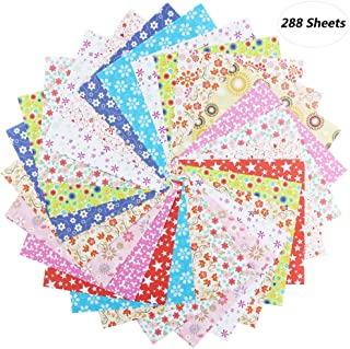 Weoxpr 288 Sheets Folding Origami Paper Washi Folding Paper for Arts and Crafts, 12 Different Patterns(6x6inch)