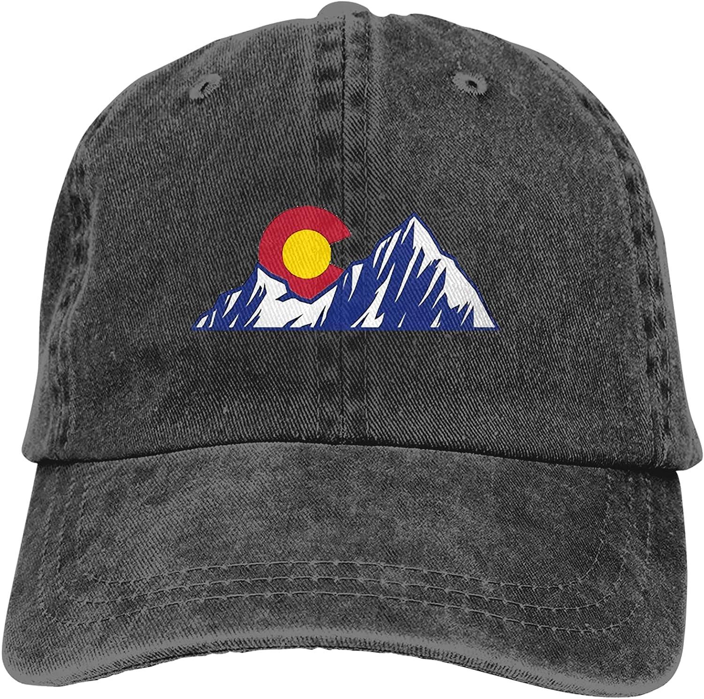 NC Colorado Mountain & Sun Trucks Cotton Hat Cowboy Hat Baseball Caps Black