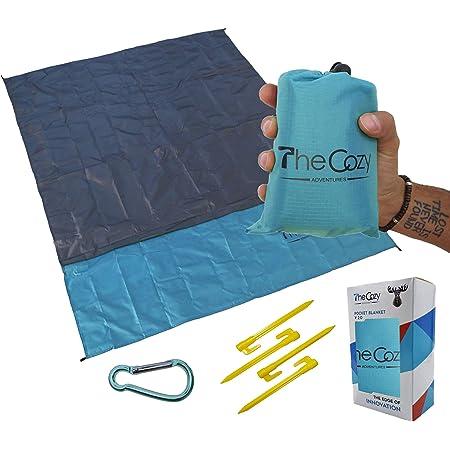 SLHFPX Cat Kitten Catching Moon Picnic Mat Outdoor Camping Beach Travel pad Blanket Mat Waterproof 57 x 59