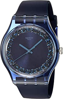 Swatch 1809 Think Fun Quartz Silicone Strap, Blue, 19 Casual Watch (Model: SUON134)