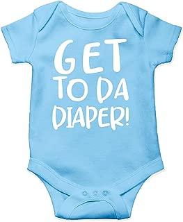 Get to Da Diaper - Funny Movie Parody - Eat Sleep Poop Repeat! - Cute One-Piece Infant Baby Bodysuit