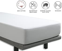 Tural – Protector de colchón y Sábana Bajera 2 en 1 Impermeable y Transpirable. Tejido 100% Algodón. Talla 150x200cm