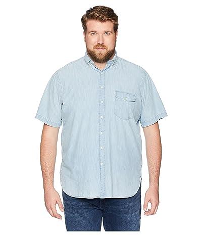 Polo Ralph Lauren Big & Tall Big Tall Chambray Short Sleeve Sport Shirt (Yacht Blue/White) Men