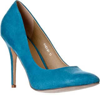 Riverberry Women's Gaby Pointed, Closed Toe Stiletto Pump Heels