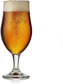 Libbey Craft Brews Nucleated Belgian Beer Glasses, Set of 4