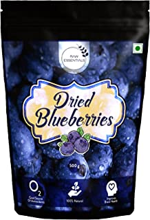 Raw Essentials Whole Dried Blueberries, 500 g [Unsulphured, Unsweetened, Immunity Building]