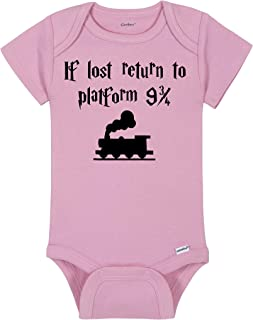 Baby Wizard Onesie® - If Lost Return To Platform Nine And Three Quarters - Wizard/Witch Express Train To School