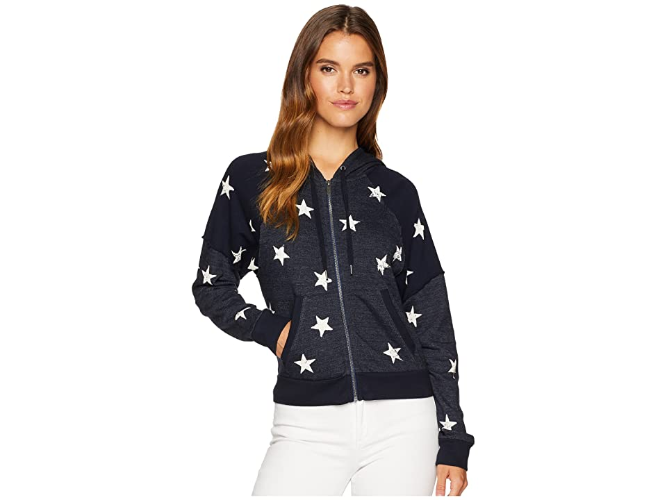 Splendid Star Zip Sweatshirt (Navy) Women
