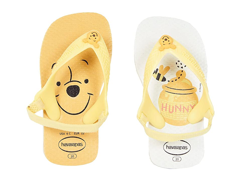 7d7ee7e4eb24ab Havaianas Kids Baby Disney Classics Flip-Flop (Toddler) (White Pollen Yellow
