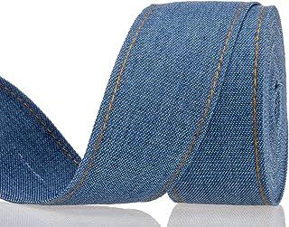 dream catcher recycled denim ribbon denim fringe ribbon gift wrap 200g Denim ribbon strips craft art project junk journal scrapbooking
