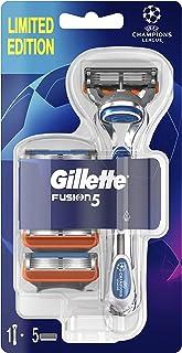 Gillette Fusion Manual Men's Razor Handle + 5 Razor Blades Refills