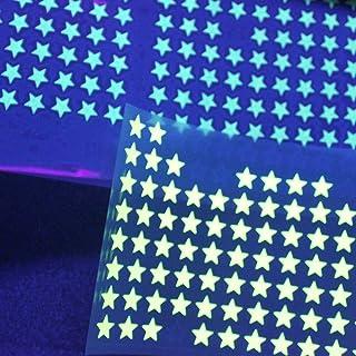 SAFIRMES appliqué 30 étoiles 1cm Flex thermocollant Phosphorescent