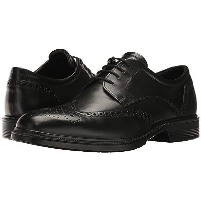 ECCO Lisbon Brogue Tie (Black) Men
