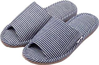 ニッポンスリッパ スリッパ relaxin'home 外縫い ヒッコリー柄 25-27cm ネイビー 300822