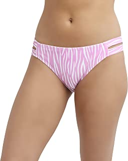 BCBGeneration womens Low Rise Swimsuit Bottom With Ruched Side Tab Bikini Bottoms