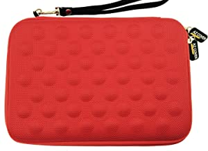AZ-Cover 11.6-Inch Simplicity Stylish Diamond Foam Shock-Resistant Neoprene Sleeve Red For Dell Inspiron 11z-1121 laptop Intel i3-330um