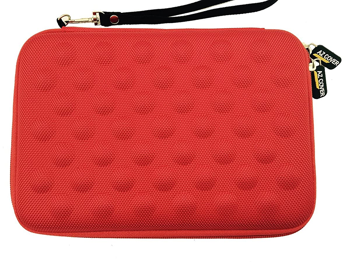 AZ-Cover 7-Inch Tablet Semi-rigid EVA Bubble Foam Case (Red) With Wrist Strap For Special Cheapest SC Silver Metal 7'' Dual Core Dual SIM Unlocked Phone Tablet + One Capacitive Stylus Pen o57057933