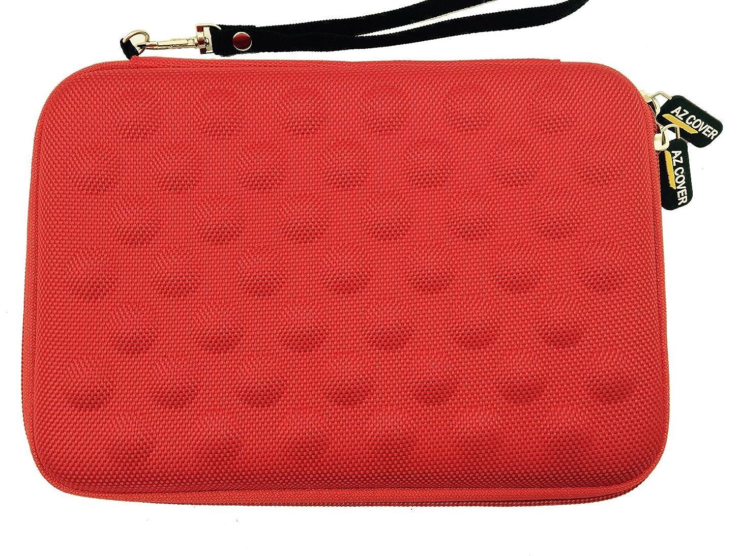 AZ-Cover 7-Inch Tablet Semi-rigid EVA Bubble Foam Case (Red) With Wrist Strap For iRULU P2 7