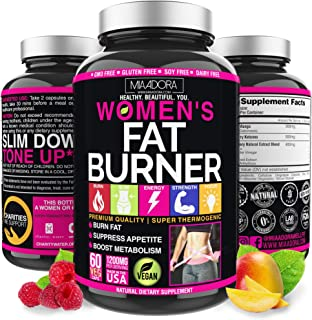 Women's Fat Burner Pills for Fast Weight Loss [Super Thermogenic] Best Natural Diet Pills, Metabolism Booster & Appetite S...
